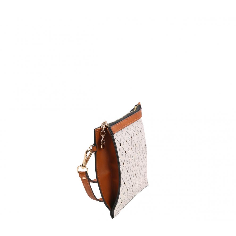 Bolsa Carteira De Mao Feminina Chenson Monograma Star Branca Ch82740 O Maleiro